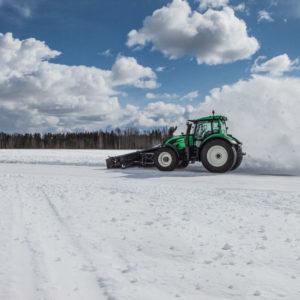 Un tracteur autonome bat un record du monde de déneigement